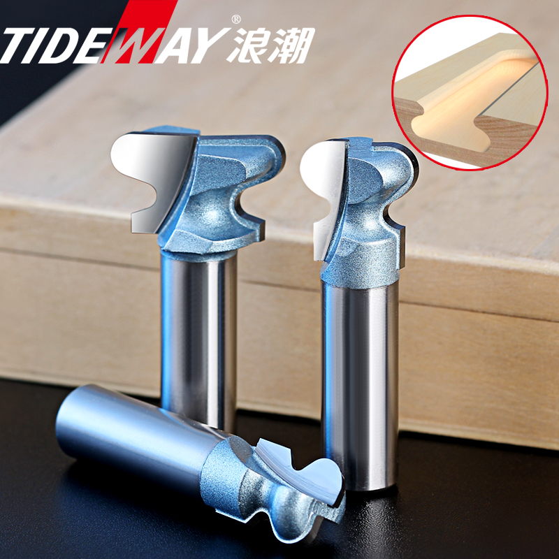 Tideway Industrial Grade Two Arc Nail Milling Cutter Woodworking Door Frame Handle Router Bits Drawer Lock Hole Slotting