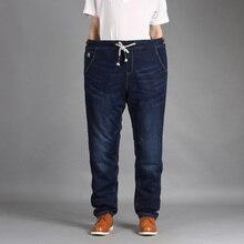 Venta Caliente Perder Cintura Ripped Denim Jeans Marca de Moda Para Hombre Pantalones Encuadre de Cuerpo Entero Azul Jean Cotton Straight Plus SizeXL-5XL # FL150-1