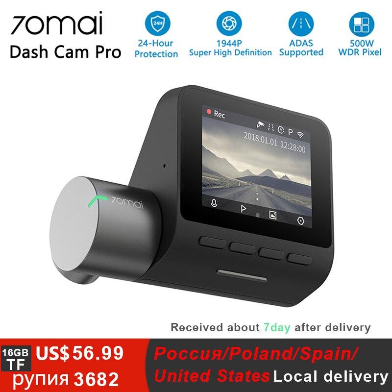 Xiaomi 70mai Pro Traço Cam Full HD 1944P Câmera Do Carro Gravador GPS ADAS 70 24 Mai Wifi Dvr Carro H 140FOV do Monitor De Estacionamento de Visão Noturna