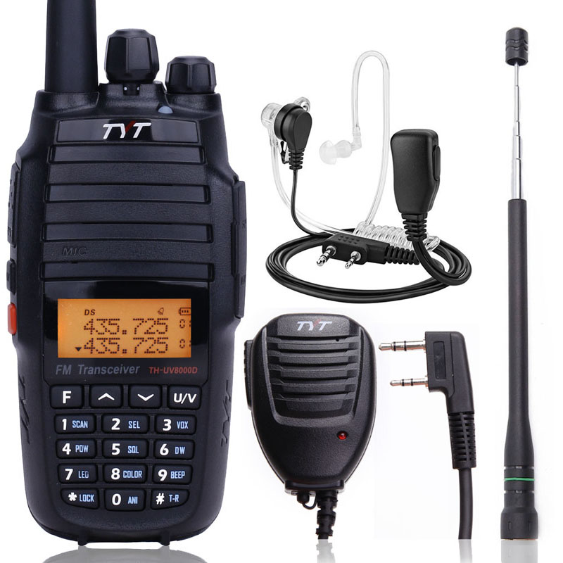 TYT TH UV8000D 10W Powerful Walkie Talkie Cross band Repeater Dual Band VHF UHF 3600mAh Battery 10km Portable Radio Transceiver-in Walkie Talkie from Cellphones & Telecommunications