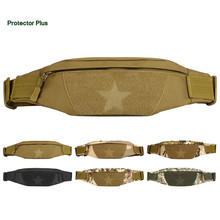 Unisex Camouflage Military Outdoor Waist Bag Chest Pack Portable Sports Equipment Waterproof Mobile Phone Bag for Running Hiking