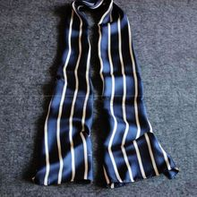 Great Gift__Fashion Mens 100% Silk Long Scarf/Cravat Scarives Brand Double Layer