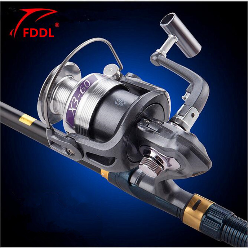 2017 NEW FDDL Brand X3 1000 7000type 12BB all metal Front Drag Spinning font b Fishing