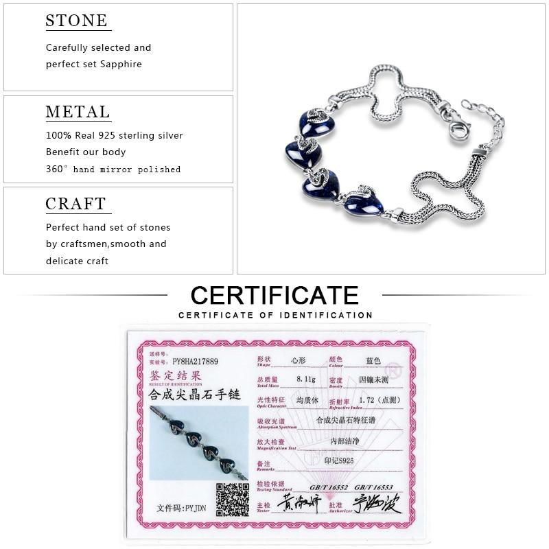 EDI Kvinnor 925 Thai Sterling Silver Ankel Armband För Kvinnor - Fina smycken - Foto 6