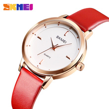 2019 SKMEI Top Brand Fashion Ladies Watches Leather Strap Female Quartz Watch Waterproof Women Wristwatch Relogio Feminino 1457 стоимость