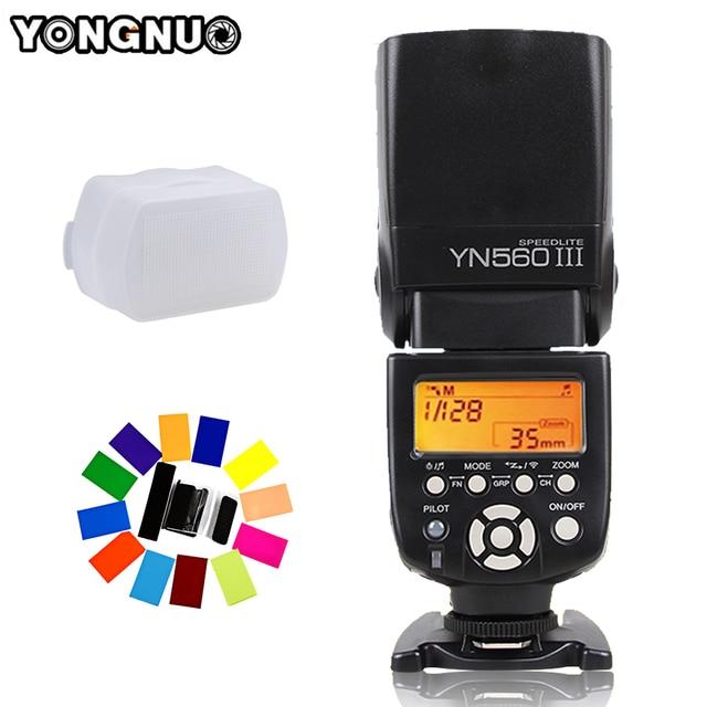 YONGNUO YN560 III YN 560 III YN560III Drahtlose Blitz Speedlite blitzgerät Für Canon Nikon D3200 D3100 D5300 D7200 DSLR Kamera