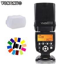 YONGNUO YN560 III YN 560 III YN560III bezprzewodowa lampa błyskowa speedlite lampa błyskowa do canona Nikon D3200 D3100 D5300 D7200 lustrzanka cyfrowa