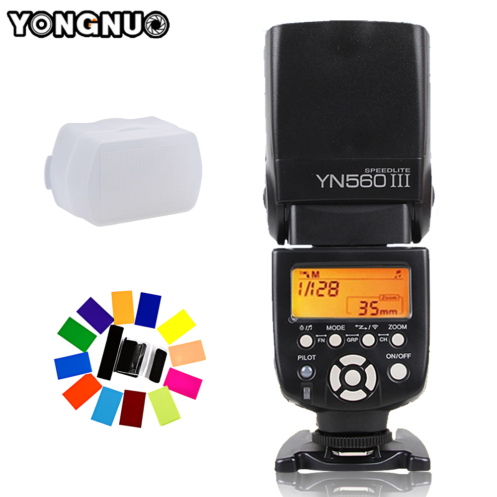 YONGNUO YN560 III YN-560 III YN560III inalámbrico Flash Speedlite Flash para Canon Nikon D3200 D3100 D5300 D7200 DSLR Cámara