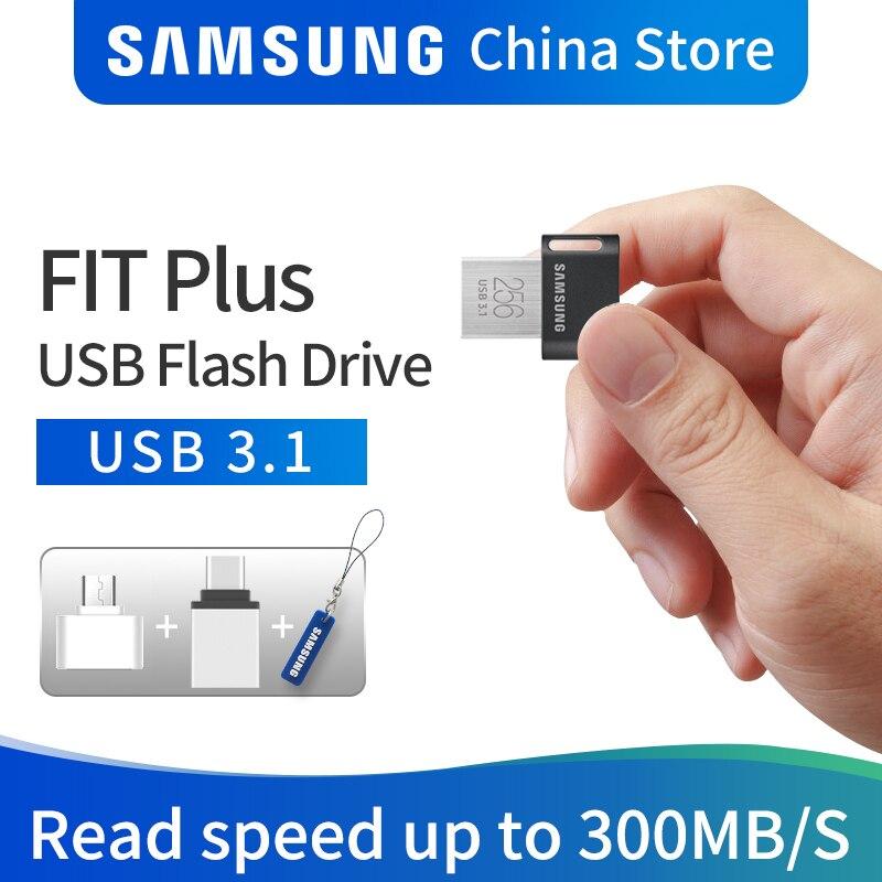 SAMSUNG USB flash drive DISK 32 gb 64 gb 128 gb 256 gb USB 3.1 del Metallo Mini pen drive di memoria dispositivo di memorizzazione del bastone U DISK Consegna Gratuita