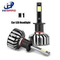 HIHIPPO H1 LED Ampuller Araba Far 80 W 8000LM COB Oto ön Ampul 6000 K Otomobil Far Halojen Xenon Araba Işık Değiştirin ampul