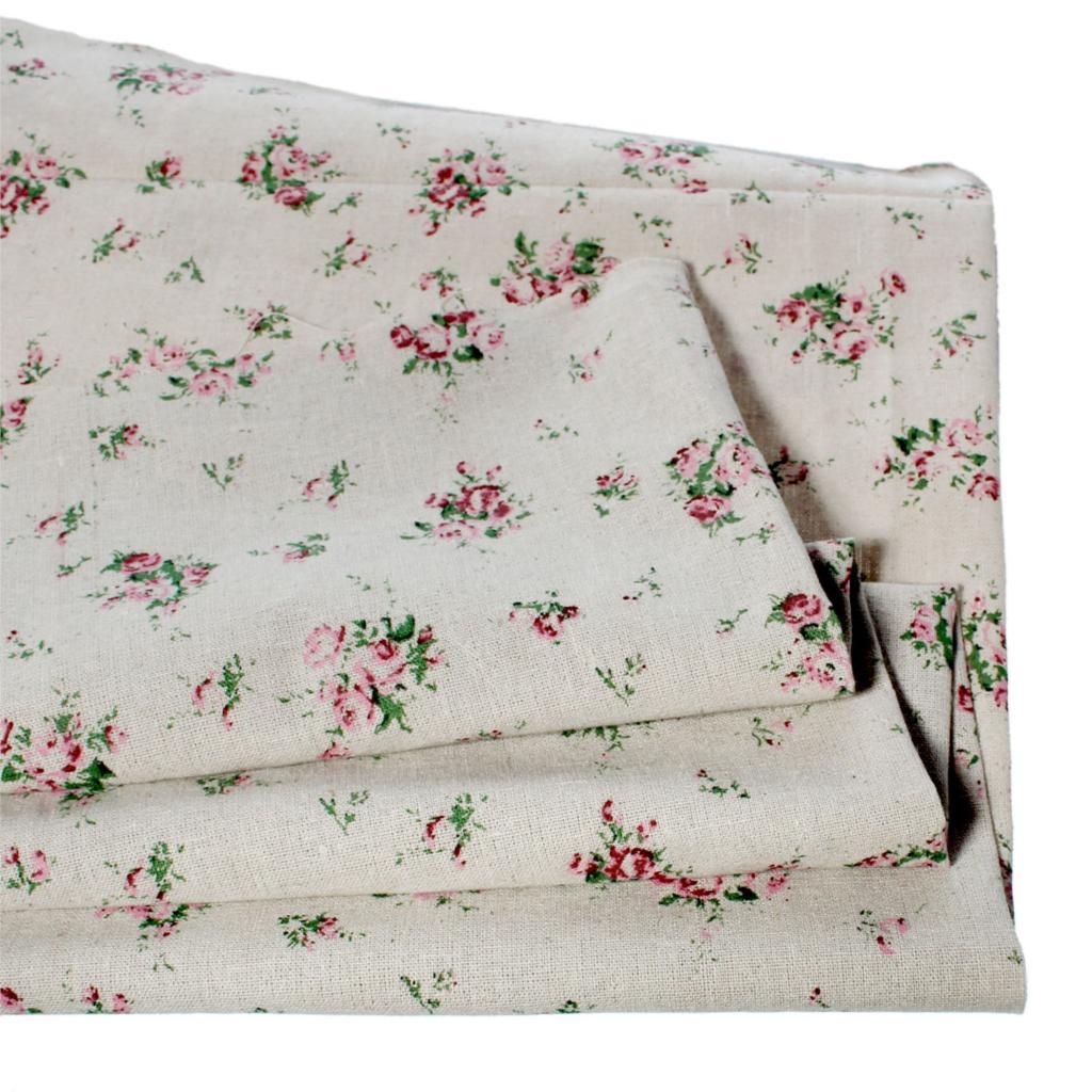 Doreenbeads bundle patchwork tela de algodón y lino de la vendimia de tela de te