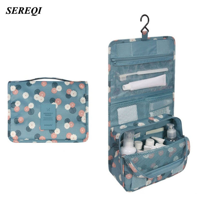 af5b66480af7 US $5.71 30% OFF|SEREQI Toiletry Storage Bag Multifunction Cosmetic  Organizer Portable Makeup Pouch Waterproof Travel Hanging Bag for Women  Girls-in ...
