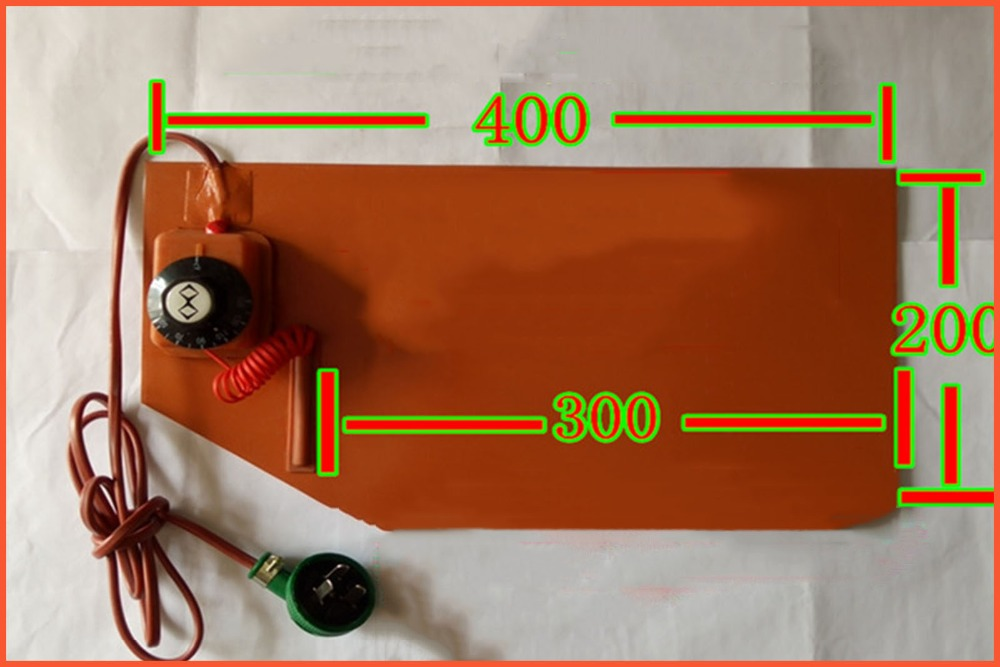 400*200mm 220V 380W temperature control FPB split screen treasure,heater plate silicone heater pad element flexible element heat dia 400mm 900w 120v 3m ntc 100k round tank silicone heater huge 3d printer build plate heated bed electric heating plate element