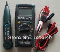 MASTECH MS8236 Auto Range Multímetro Digital LAN Probador de Red de línea Telefónica Cable Tracker Tono Comprobar Tensión Sin contacto Detectar