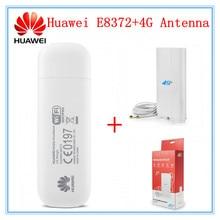 Разблокированный Huawei E8372+ 4G антенна LTE USB Wingle LTE Универсальный 4G USB WiFi модем автомобильный wifi E8372h-608 E8372h-153