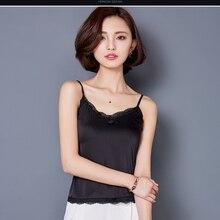 Lace crop top 2018 Clothes Canotta  Estiva Tropical womens tank tops Silk Women Shirt Camis Sleeveless Blusa Summer Feminina