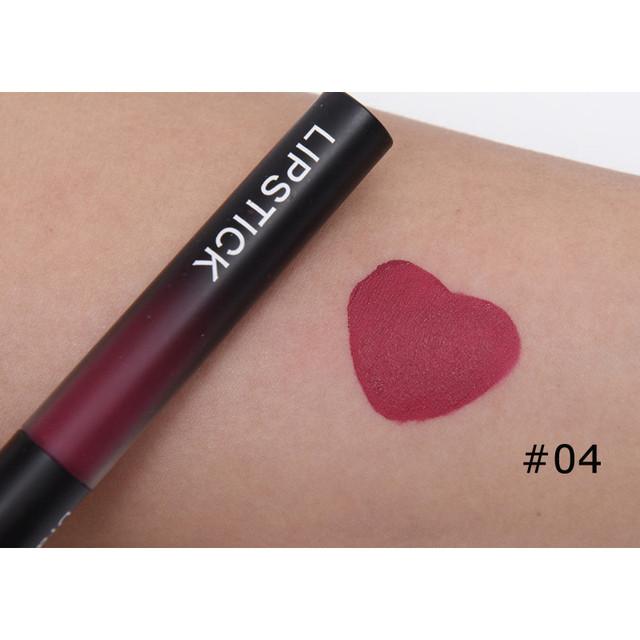 Professional Makeup Velvet Nude Lip gloss Waterproof Liquid Matte Lipstick Long lasting Black Lipstick Set Korean Cosmetics