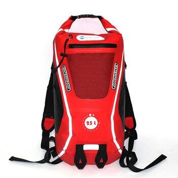 107fa3cf8ce 25L Outdoor Waterdichte Tas Dry Bag Waterdichte Rugzak Klimmen Man Rafting  Kajakken Rivier Trekking Bag Vrouwen Reizen Bag