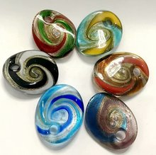FREE SHIPPING YQTDMY 6 PCS Newest Exquisite Beautiful Lampwork Murano Glass Simple Charms Pendant