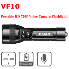 2016 new Arrival VF10 720P HD CCTV  Video MINI Camera Flashlight Sport Surveillance Camera Camcorder LED Light Free Shipping
