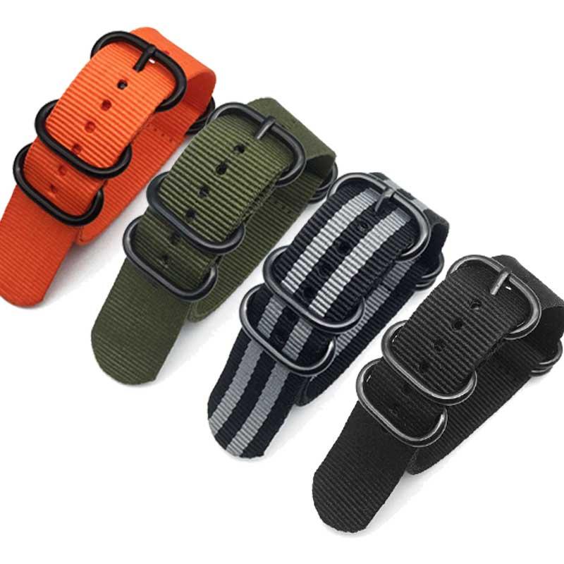 Nato Nylon Watch Strap ZULU 20 22 24 Mm Watchbands For Samsung S3/S2 Amazfit Bip Huami Amazfit Watches Strap Wristwatch Band