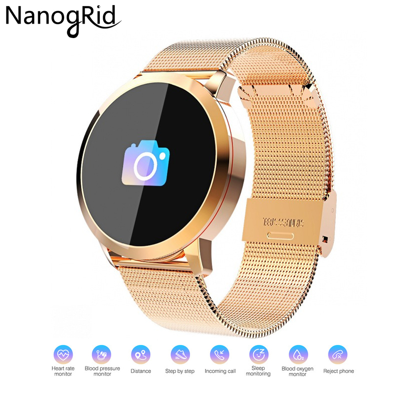 Color Screen Screen Smartwatch IP67 Waterproof Smart Watch Sport Fitness Men Women Wearable Devices for IOS Android Watcjes