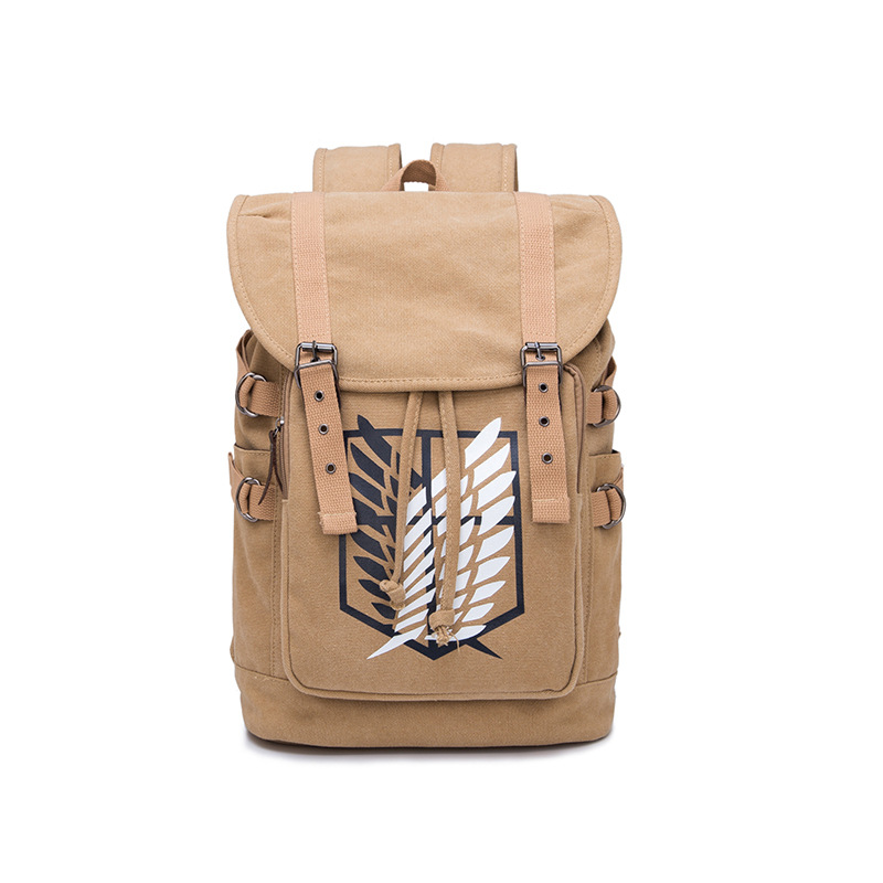 Anime Attack On Titan Scouting Legion Backpack Student School Canvas Laptop Bag Casual Leisure Rucksack Cosplay Mochila Gifts