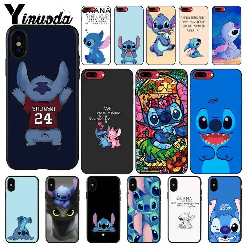 Yinuoda Dongeng Patri Lilo Stitch Colorful Telepon Kasus untuk iPhone 11 Pro Max 8 7 6 6S Plus X XS Max 5 5S SE XR Fundas Capa