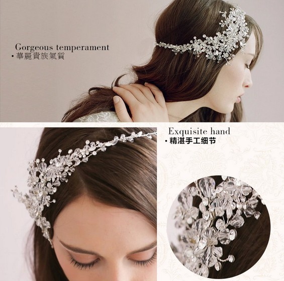 2014 Vintage Flower Crystal Tiara Bridal Hair Accessories Wedding Quinceanera Tiaras Crowns Pageant Rhinestone Crown - Just Me store