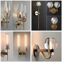 Crystal Lampshade Decoration Wall Lamp Light Bulb Holder Easy Installation For Indoor Hallways Stairwells Restaurants Hotels