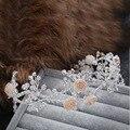 100% hechos a mano de cristal de circón corona de la Tiara partido nupcial de la boda de la venda mujeres celada accesorios de la joyería nupcial regalo