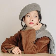 Moda dulce invierno lana caliente mujeres fieltro boina francesa Beanie Color  sólido Newsboy boinas sombrero gorra 877387362f4