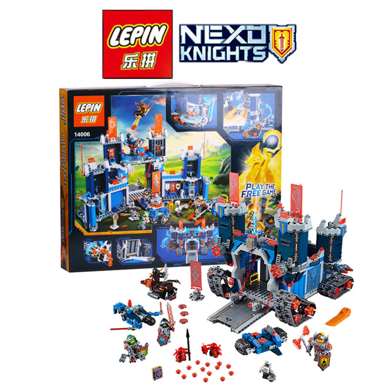ФОТО LEPIN 14006 1115Pcs Nexus Knights The Fortrex Castle Building Block Clay Aaron Fox Axl Compatible with 70317 Bricks