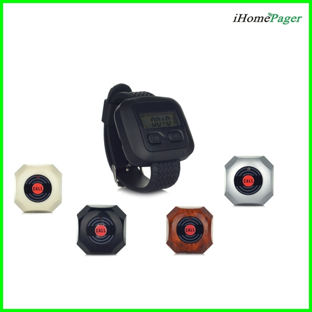 sample order 4pcs of service bells(1pc each color) and 1pcs of watch receiver