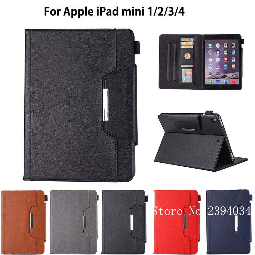 Luxury High Qualtiy Case For Apple iPad Mini 1 2 3 4 Smart Case Cover Funda Tablet Silicone PU Leather Shell Auto Sleep/Wake for ipad mini 4 case pu leather tablet cover full protection 7 9 inch drop resistance one piece shell