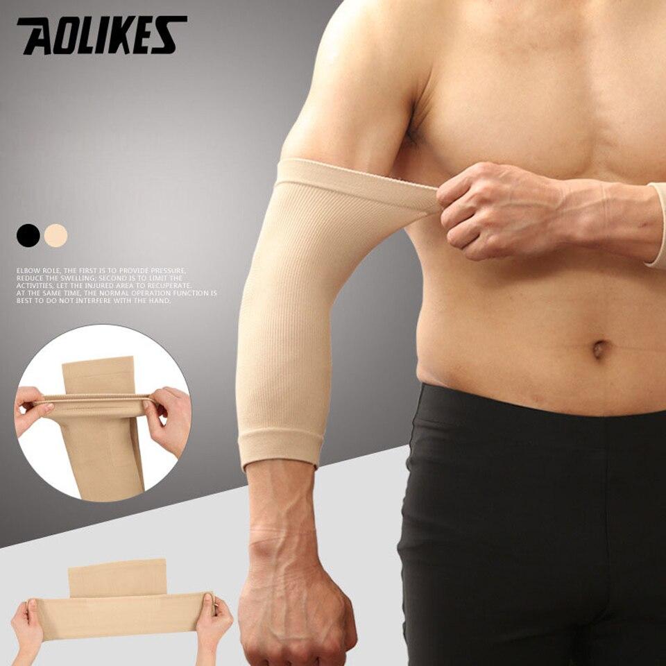 Prix pour Aolikes 1 paire de compression courir vélo manchettes protection de basket-ball volley-ball sport bras manches vélo bras couvre