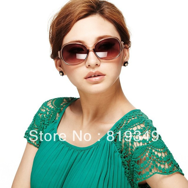 New VANCL Women Sunglasses Shannon Fashion Oversized Sunglasses Colored Frame Nose Pads Curved Temple Tips Brown FREE SHIPPING