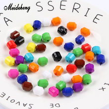 Meideheng Solid Color Beads Slime Crystal Mud Filler Needlework Accessories For Jewelry Making Handmade Craft Children Gifts meideheng acrylic circle beads transparent electroplating slime crystal mud filler ornament accessories for hair ring needlework