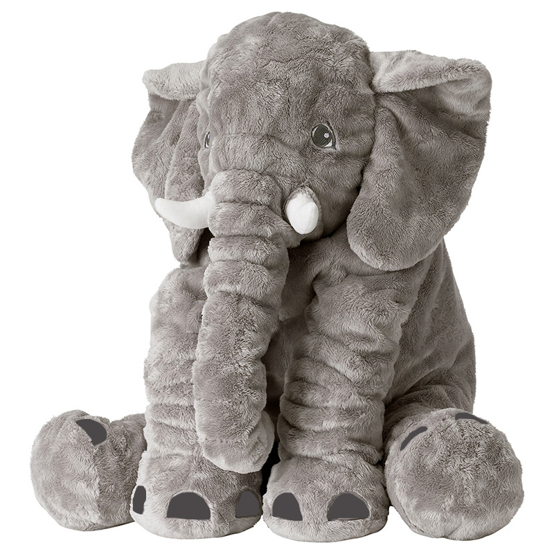 Elephant Plush Pillow 40/60CM Infant Soft For Sleeping Stuffed Animals Doll Plush Toys Baby 's Playmate gifts for Children цена