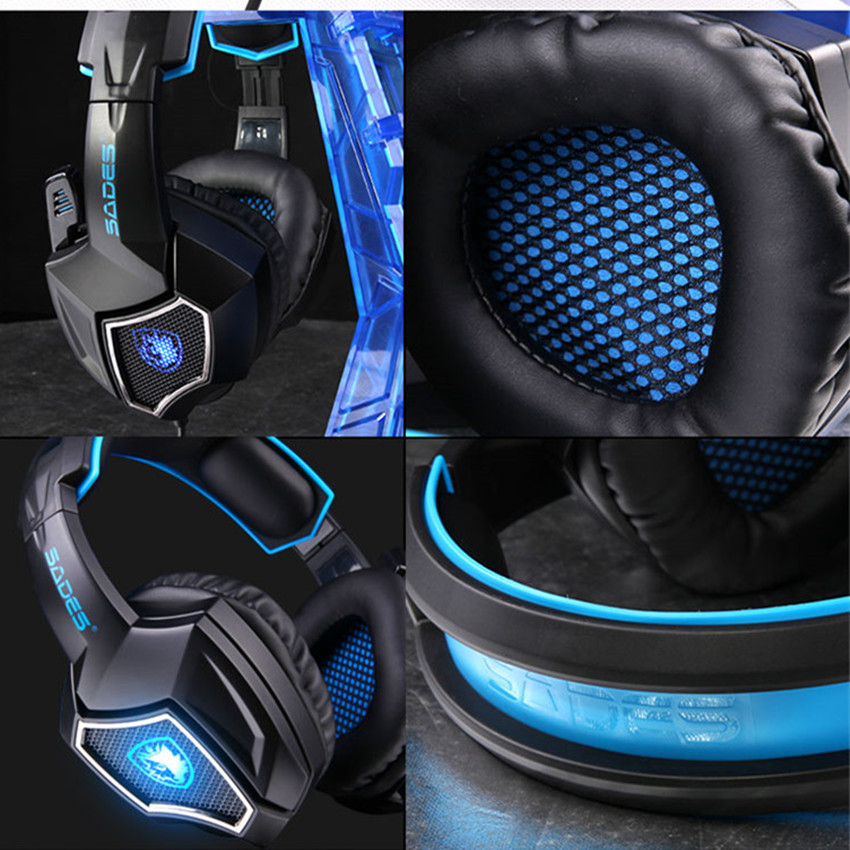 Sades Spirit Wolf Wired Pro Gaming Headphones with Mic Computer Stereo Earphones Noise Isolating LED Lights aliexpress com buy sades spirit wolf wired pro gaming headphones Headphone with Mic Wiring Diagram at creativeand.co