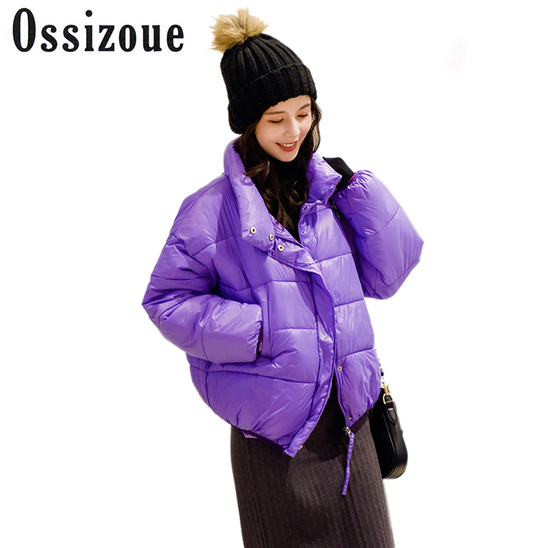 Chic Winter Short Parka Women Jacket Coat 2018 Female Thick Bright Candy Color High Quality Loose Casual Ladies Coats Outwear