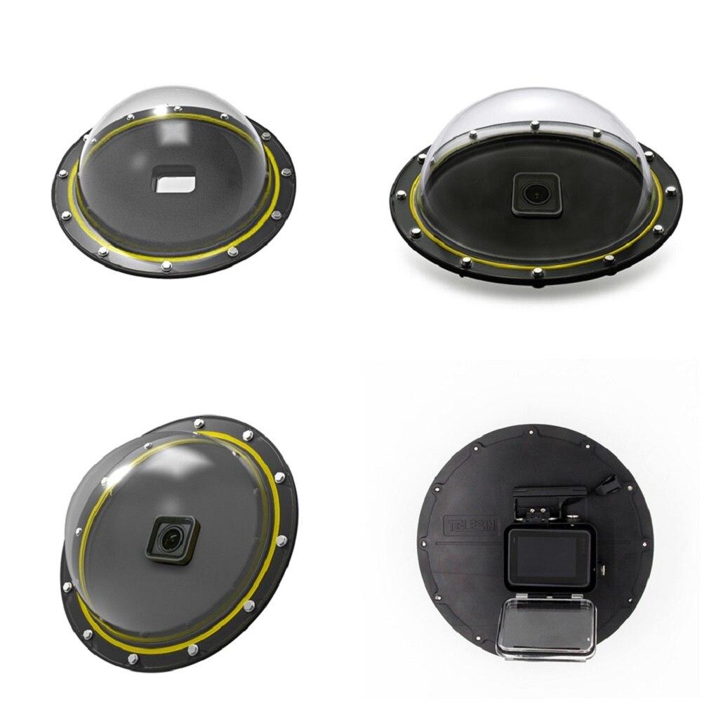 TELESIN 6 Dôme Port Boîtier Étanche Logement pour GoPro Hero 5 Noir Hero 6 Hero 7 Déclenchement Dôme Lens Cover tir Accessoires - 3