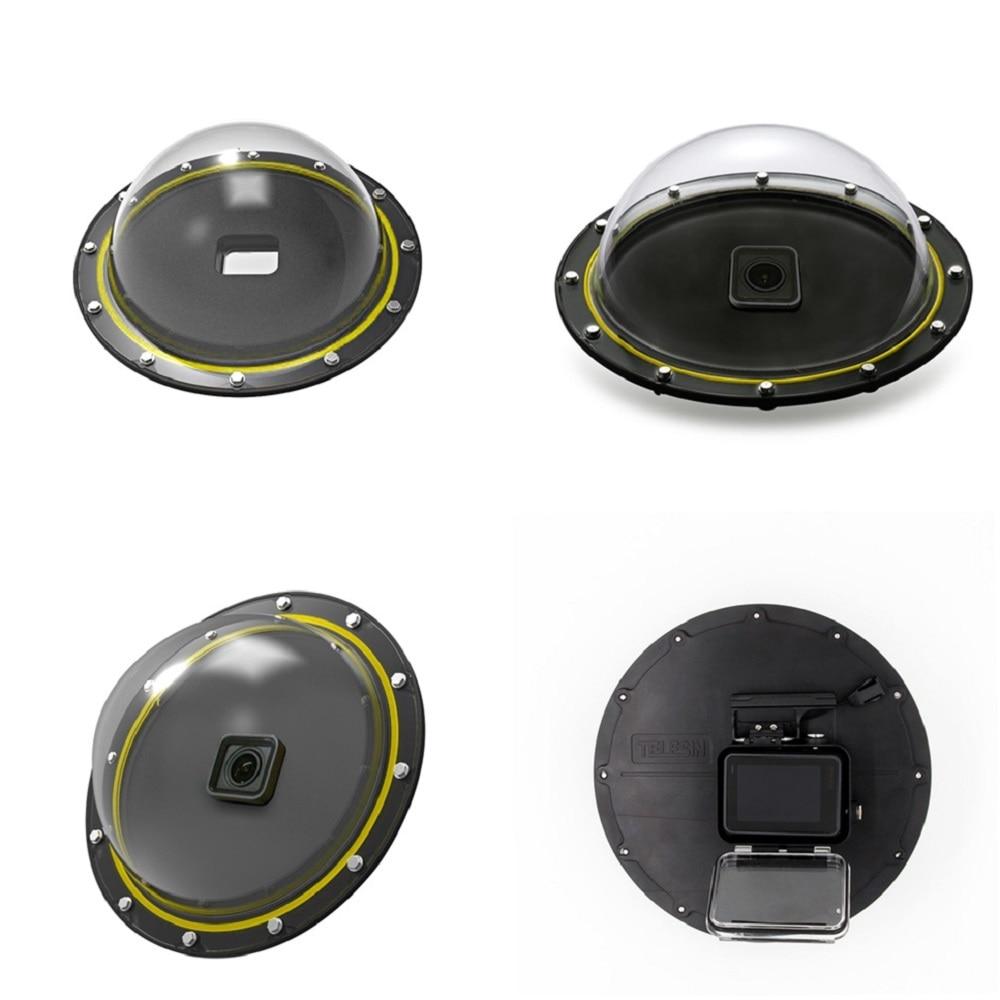 TELESIN 6 ''dôme Port 30M boîtier étanche pour GoPro Hero 5 noir Hero 6 7 Hero 8 déclencheur dôme couverture lentille accessoires - 5