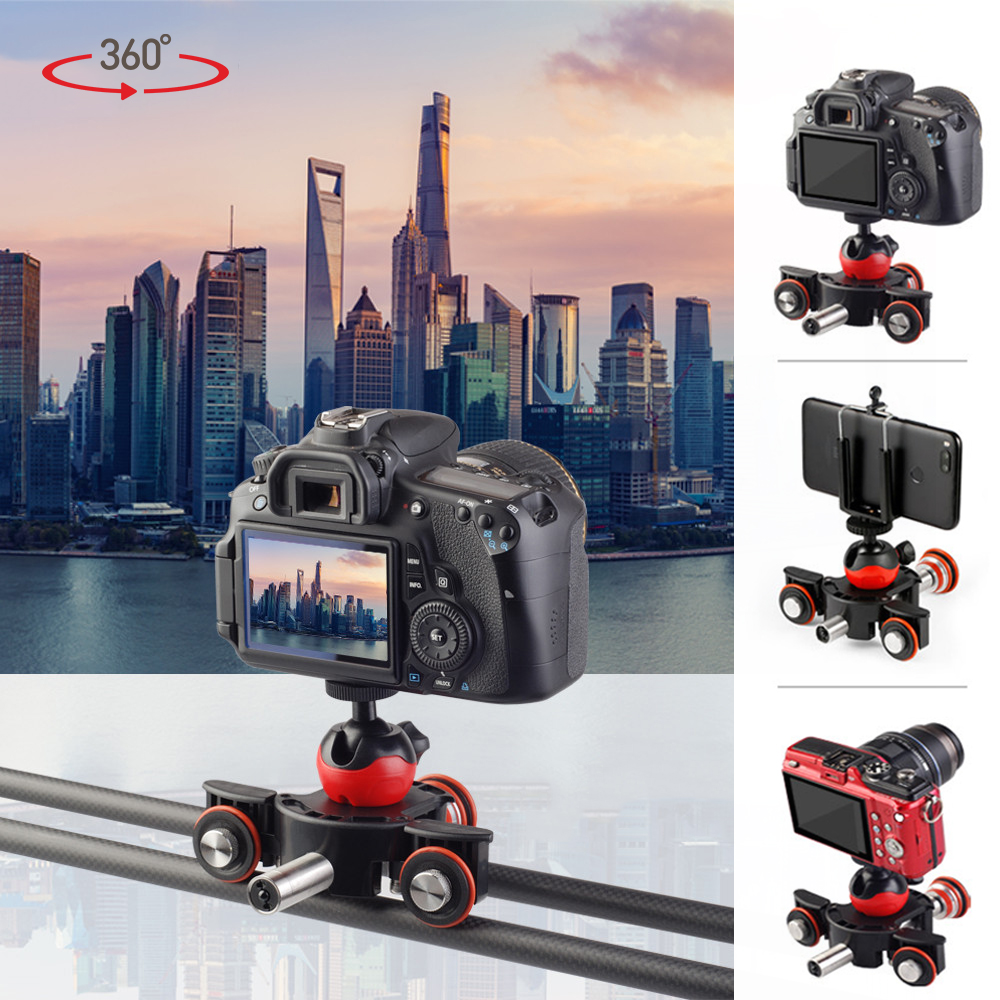 Motorized Electric Slider Remote Control Camera Video Rail Track Slider Motor Dolly Truck For DSLR Camera Smartphone Vlog MV