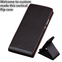 HY03 Genuine Leather Flip Case Cover For Huawei P Smart Vertical flip Phone Up and Down Leather phone Case For Huawei Enjoy 7S