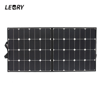 LEORY 18V 100W Monocrystalline Folding Solar Panels Sunpower for Battery Charger Caravan Outdoor +Chip High quality