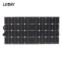 Leory 18 В 100 Вт монокристаллический складной солнечных панелей sunpower для Батарея Зарядное устройство караван открытый + чип Высокое качество