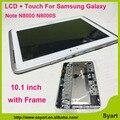 FreeDHL Белый Высокое качество 10.1 ЖК-дисплей Сенсорный Дигитайзер жк-Экран в Комплекте с Рамкой Для Samsung Galaxy Note N8000 N8000S