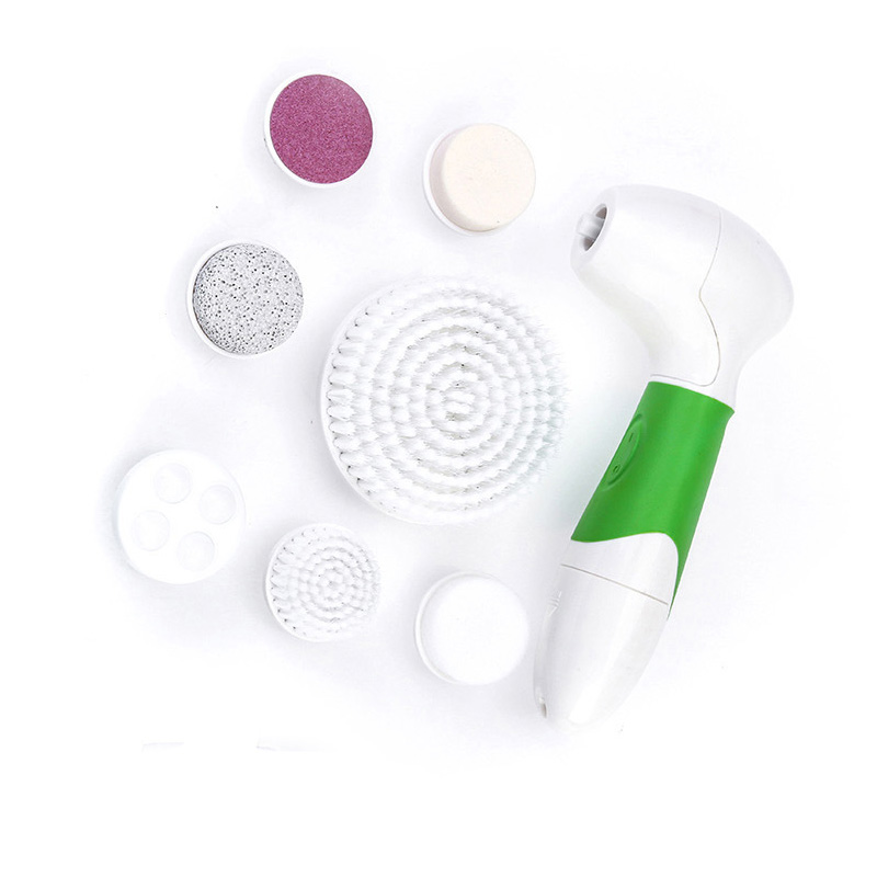 7 IN 1 Face Brush Cleansing Multifunction Electric Ultrasonic Wash Body Spa Skin Care Massage Face Brushes Facial Cleanser Tool electric face brush spa skin care massage deep clean multifunctional facial cleansing brush daily cleaning exfoliation