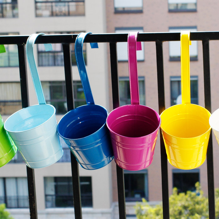 Multicolour Flower Pot Metal Hanging Pots Disemblability Balcony Bucket In Planters From Home Garden On Aliexpress Alibaba
